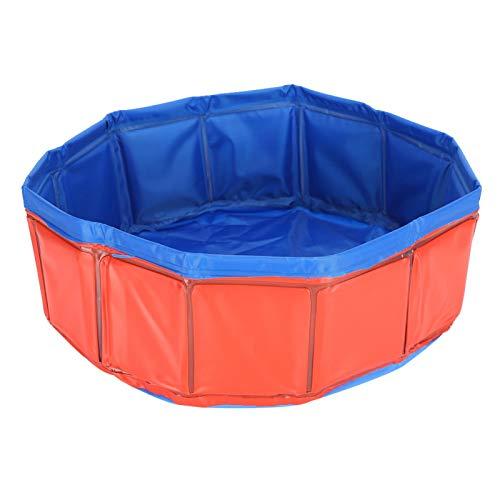 Nimomo Bañera Plegable para Mascotas: Mascota, Gato, Perro, sin inflación, bañera de PVC, Ducha Plegable, Piscina de Agua, Suministro de bañera(Rojo)