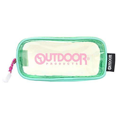 (アウトドアプロダクツ) OUTDOOR PRODUCTS ペンケース クリア かわいい 高校生 PCV 女子 筆箱 パステルカラー ペンポーチ ロゴ BOX型