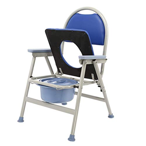 Home Commode Chair Toilet Chairshower Chair Mobile Portable Toilet Seat for Seniors with Non Slip Handles and Bucket