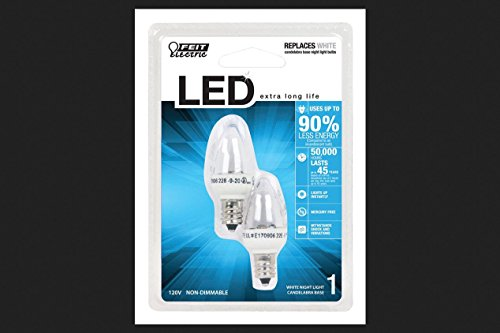 Feit Electric BPC7/LED Night Light Bulb, Non-Dimmable LED, Uses Less Than 1W