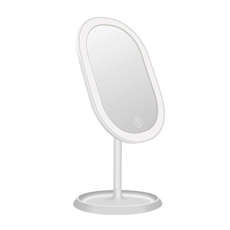 浴室発表期間メイクアップミラータッチスクリーンバニティミラー、美容ledメイクアップミラーusb充電スマートフィルメイクアップミラーデスクトップ多機能メイクアップミラー複数色モデルデスクトップ