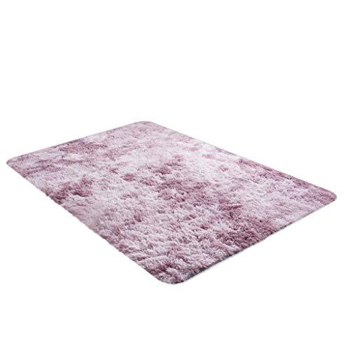 HSKB Flauschiger Hochflor Shaggy Teppich Weich Flauschig Wohnzimmer Spielmatte rutschfest Kriechende Matte für Wohnzimmer/Schlafzimmer Kinderzimmer oder Flur Läufer (120x60cm) (Pink)