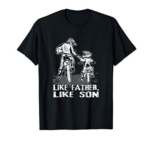 Motocross Biker De tal palo tal astilla Amantes de las motos Camiseta