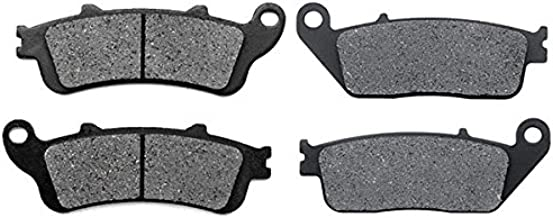 KMG Front + Rear Brake Pads for 2002-2010 Honda FSC 600 Silverwing Non ABS - Non-Metallic Organic NAO Brake Pads Set