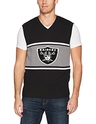 OTS NFL Oakland Raiders Men's Sweater Vest, Logo, Medium