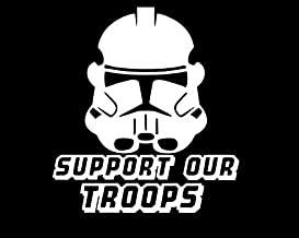 UR Impressions Support Our Troops Clone Trooper Decal Vinyl Sticker Graphics for Cars Trucks SUV Van Wall Window Laptop|Wh...