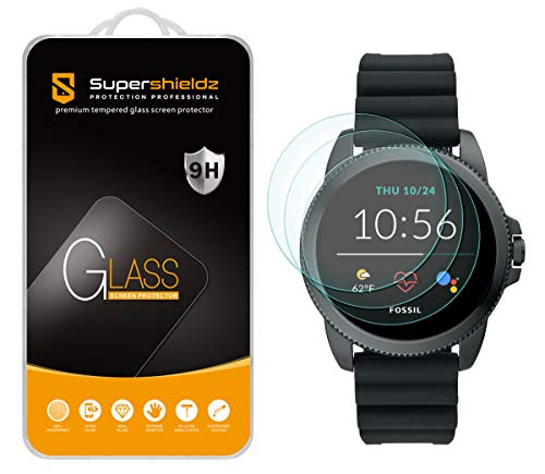 (3 Pack) Supershieldz Designed for Fossil Men's Gen 5E 44mm Smartwatch Tempered Glass Screen Protector, Anti Scratch, Bubble Free