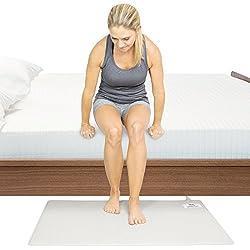 Vive Wireless Floor Alarm Mat - Fall Sensor Kit for Elderly, Seniors, Dementia Patients - Health Safety Weight Movement Pressure Pad Detector - Nurse, Caregiver, Caretaker Aid - Home Alert System