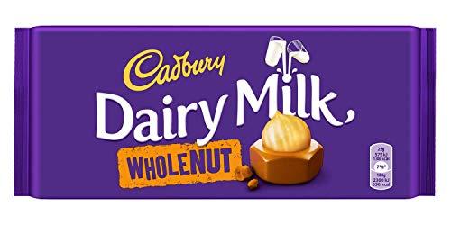 Cadbury Dairy Milk Whole Nut 200 g, 2er paquete (2 x 200 g)