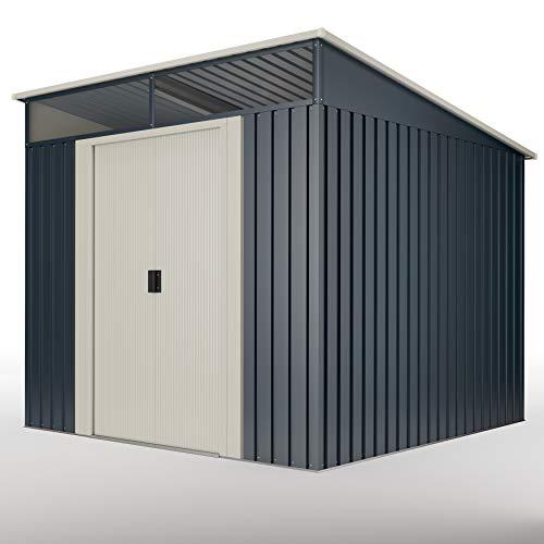 wasabi Stark Cobertizo Jardin, Caseta metálica Gris 6,6 m2 279x238x203cm...