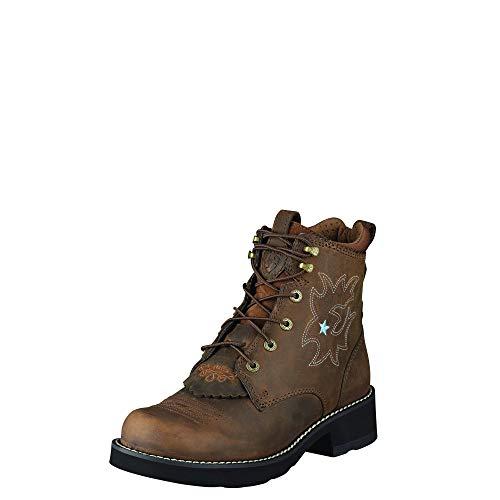 Ariat 1090 Probaby Lacer Brown Lederstiefel für Damen Braun Westernreitstiefel, Groesse:41.5 (7.5 UK)