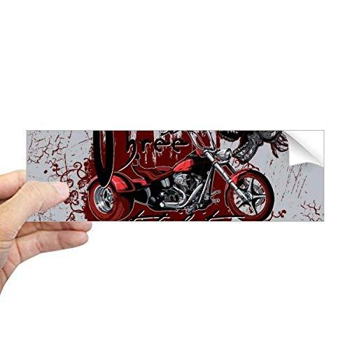 DIYthinker Graffiti Straat Cultuur Bloedige Skeleton Motor Rechthoek Bumper Sticker Notebook Window Decal