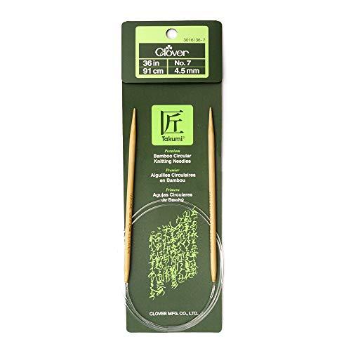Clover Takumi Bamboo Circular 36-Inch Knitting Needles, Size 7 (3016/36-07)