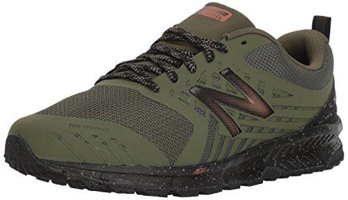 New Balance Men's FuelCore Nitrel V1 Trail Running Shoe, Dark Covert Green, 11 4E US