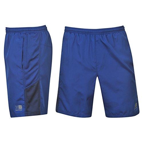 Karrimor–Pantaloncini uomo a bermuda sportivi da corsa con pantaloncini elasticizzati interni, Classic Blue, XS