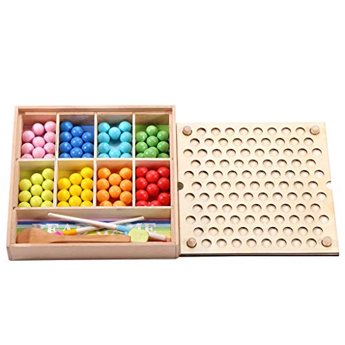 TIREOW Kinder Eltern Puzzle Frühe Erziehung Training Spielzeug Holzclip Perlen Spielzeug Interaktives Spiel Tischspielzeug