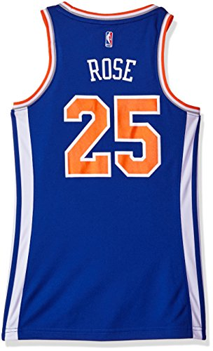 NBA Women's New York Knicks Derrick Rose Replica Player Away Jersey, Large, Blue