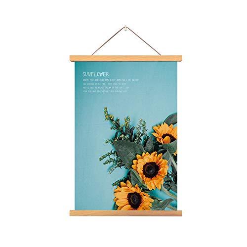 PJX Fondo de pared para sofá de sala de estar, sin marco, girasol, moderno, decorativo, pintura de flores, mural para dormitorio, mesita de noche, restaurante, b_4565 cm