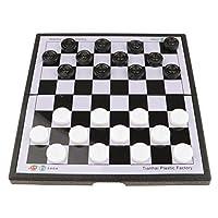 チェスチェスゲームセット、チェッカーゲームボード旅行戦略ゲーム用の折りたたみ式国際ドラフトチェスゲームポータブル大人キッズゲームトラベ