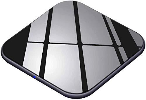 Wireless Charger 15W Handy Schnellladegerät [USB C, Ultra Dünn] Qi Ladestation für iPhone X/XS/XR/XS Max/11/11 Pro/Max/8/8P/AirPods2/pro, Induktions Ladegerät 10W für Galaxy S10/S9/S8/Note10/9/8 usw