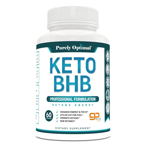 Premium Keto Diet Pills - Utilize Fat for Energy with Ketosis - Boost Energy & Focus - BHB Ketogenic Supplements for Women and Men - 30 Day Supply from Purely Optimal Nutrition Inc.