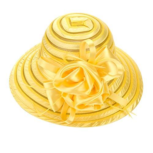 SHIGURE Flor de la Pluma de la Cena Tocado Vestido del Cheongsam de Las Mujeres Muestran el Hongo Nupcial,Amarillo