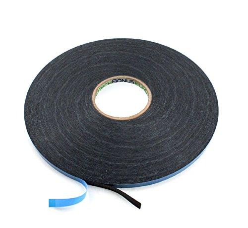 BONUS Eurotech 2BF42.61.0009/010A# Doppelseitiges Schaumstoffklebeband, Acrylklebstoff, Geschlossenzelliger Polyethylen, Länge 10 m x Breite 9 mm x Gesamtdicke 0,8 mm, Schwarz