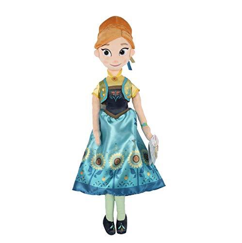 SDFZ Frozen Anna Peluche De Juguete Muñecas De Peluche Princesa Juguetes De Dibujos Animados Niña Cumpleaños Fiesta De Navidad Regalo para Niños Niños 50Cm