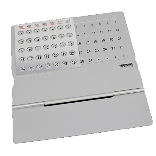 jieGorge Super Perpetual 100 Year Calendar Perpetual Office Supplies, Kitchen,Dining & Bar for Christmas Day (Silver)