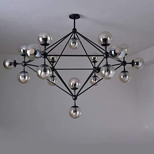 Modern Sputnik Chandelier, Nordic Bal van het Glas Chandelier LED Art Kroonluchter Lamp Holder, Geschikt for Slaapkamer Woonkamer, Vintage Industrial glazen kroonluchters Lights, 10 koppen, Grootte: 1
