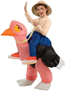 Big Boys' Inflatable Ostrich Costume, One Size for 5-7 Years