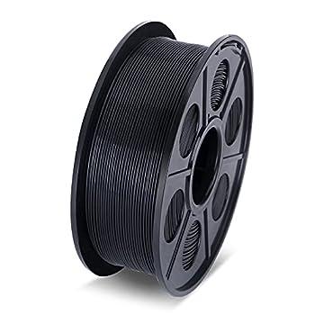 KINLUOT PLA 3D Printer Filament 1.75mm 1KG Spool 2.2lbs  Durable Multi Colour Combination for 3D Printers  Black