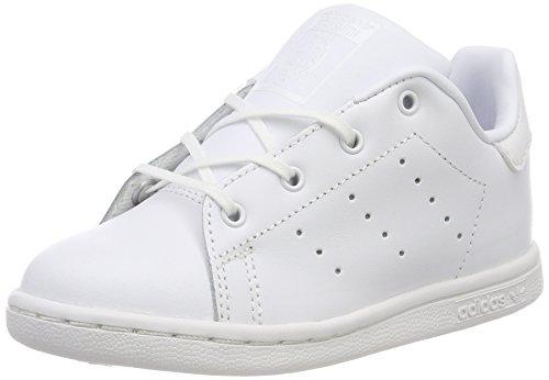 adidas Stan Smith I, Zapatillas Unisex niños, Blanco (Footwear White/Footwear White/Footwear White 0), 27 EU