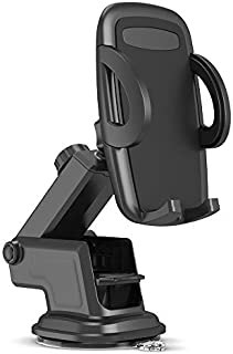 Maxboost DuraHold Series Car Phone Mount for iPhone 12 11 Pro Max Xs XR X 8 7 Plus SE,Galaxy S20 Ultra S10 S10+ S10e,Note 10,LG,Huawei,Pixel[Washable Sticky Gel Pad/Extendable Holder Arm (Upgrade)]