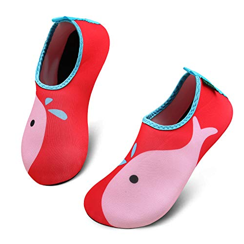 katliu Mädchen Jungen Badeschuhe Wasserschuhe Strandschuhe Schwimmschuhe Barfußschuhe Surfschuhe Aqua Schuhe für Kinder Baby(067 Rot,26/27 EU)