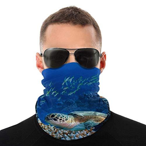 Kasonj Bandana gigante tortugas marinas cara cuello polaina cara bufanda máscara polvo-polvo, transpirable a prueba de viento pesca senderismo correr ciclismo