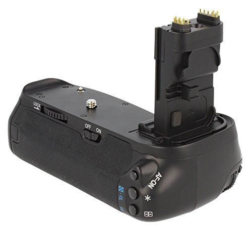 Meike Profi-Batteriegriff für Canon EOS 70D, für 2x LP-E6-Akkus und 6AA-Batterien (ähnlich BG-E14)