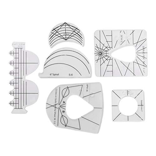 DIYARTS 6 unids/Set Regla acrílica para Coser Patchwork Coser Acolchado Regla acrílica para procesamiento de Bricolaje Herramienta de Costura Gratis Reglas de Plantilla