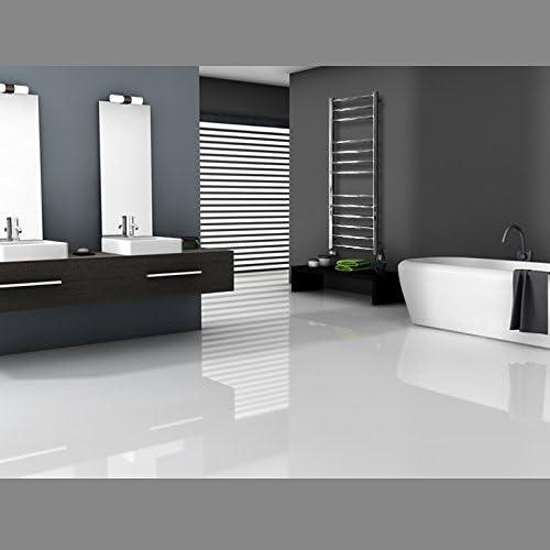 Radiador de pared Blanco 400 x 1400 mm ECD Germany Radiador toallero de ba/ño DHK Towel Radiador calentador y secador de toallas Radiador calefactor de ba/ño Dise/ño recto No el/éctrico