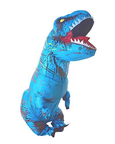 PARAYOYO T Rex Disfraz Dinosaurio Inflable Adulto T-Rex Trex Disfraces para Halloween Azul