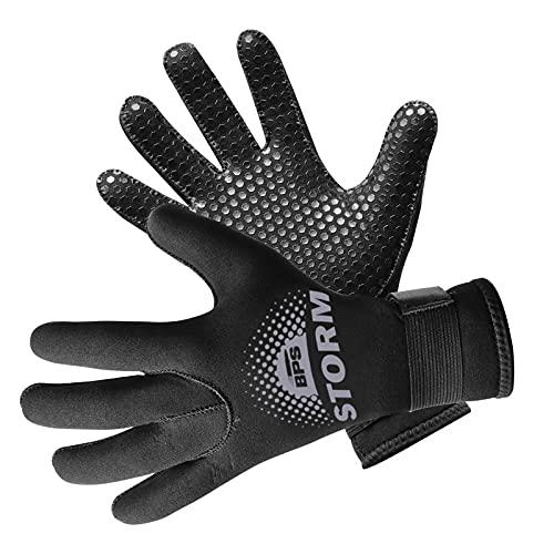 BPS 3mm Neoprene Diving Gloves with Anti Slip Palm - Full Finger Gloves for Scuba Diving,...