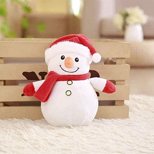N-L Natural 25cm Santa Claus Plush Toy Cute Little Snowman Figurine Christmas Decoration Intellectual Development Santa Plush Best Gifts