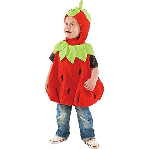 Faschingskostüm, Baby-Erdbeere Einheitsgröße