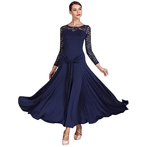 Damen Ballsaal Tanzkleid Waltz Tango Standard Kleid - Blau - Mittel