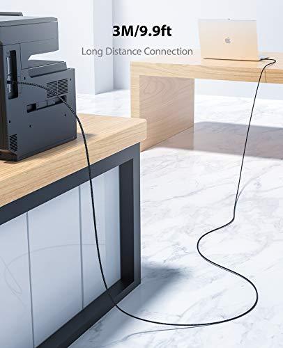 NIMASO Cable Impresora [3M]cable usb impresora hp Tipo USB 2.0 Tipo A a Tipo B Compatible para Impresora HP, Epson,Canon… 7