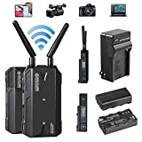 Hollyland Mars 300 Pro Enhanced Transmitter & Receiver 1080p HDMI Transmission System 5G Wireless Video & Audio Transmission, 300ft Transmission Range 80ms Latency APP Support Android & iOS
