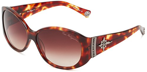 True Religion Sunglasses Madison Oversized Sunglasses, Amber Tort, 59 Mm