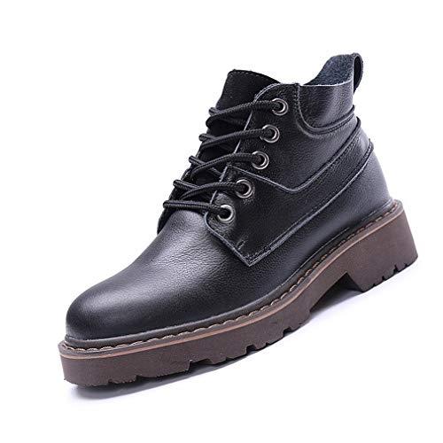 Zapatos de mujer para hombre, de moda, unisex, de cuero, para trabajo, cómodos, desnudos, antideslizantes, color negro, 35