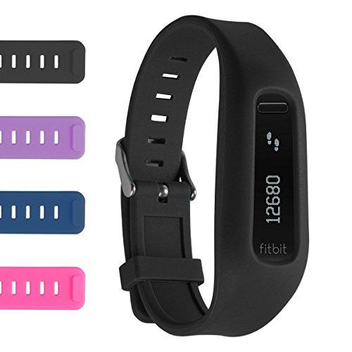 NEO+, neues Ersatzband kompatibel mit Fitbit ONE mit Buckle / No Tracker (SCHWARZ)