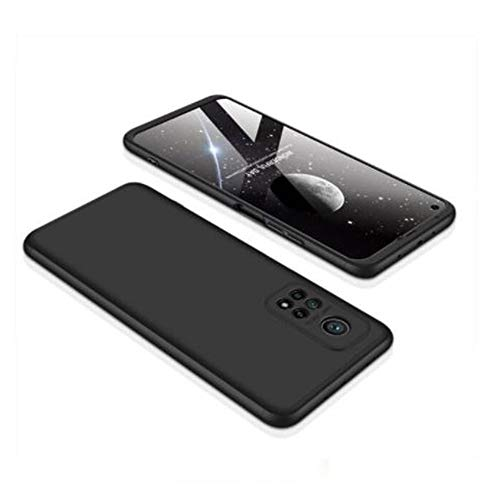 """Capa Capinha Anti Impacto 360 Para Xiaomi Mi 10T com Tela de 6.67"""" Polegadas Case Acrílica Fosca Acabamento Slim Macio - Danet (Preto)"""
